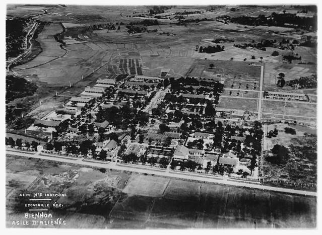 BIEN HOA 1930s - Asile d'Aliénés -  Không ảnh khu vực Dưỡng Trí Viện Biên Hòa, thập niên 1930