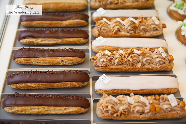 Rows of perfect eclairs