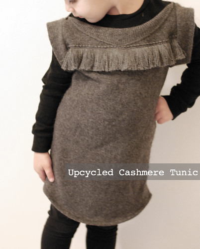 upcycled cashmere tunic/ dress