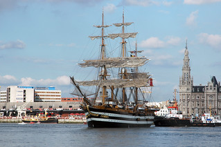 El puerto de Amberes.