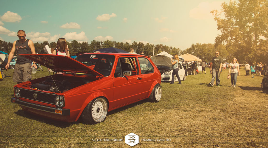 red vw mk2 golf gti rabbit coupe r32 sway white bbs rs at h2oI 2012 3pc wheels static airride low slammed coilovers stance stanced hellaflush poke tuck negative postive camber fitment fitted tire stretch laid out hard parked seen on klutch republik