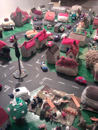 Knitted Village at the Knitting and Stitching show