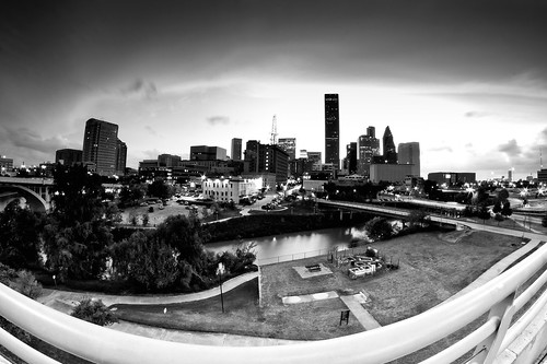 Houston Texas B&W Fisheye Lens | WWPW 2012 - 002