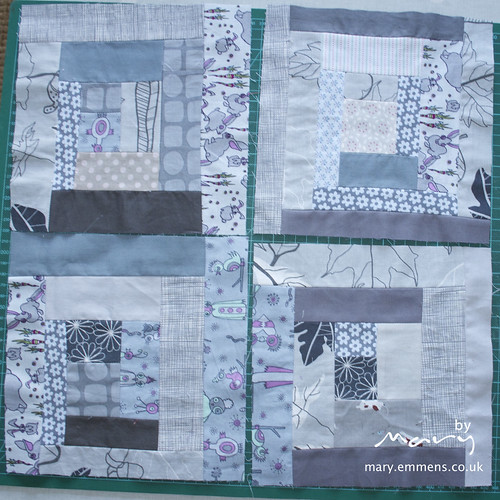 Grey log cabin blocks