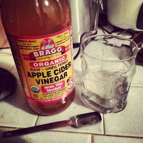 Trying the whole apple cider vinegar thing. Wonder what, if anything, it will do.