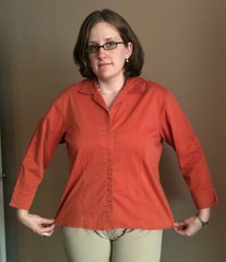 Pin-Tucked Shirt Refashion - Before