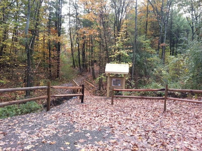 The new Gregg Road trailhead