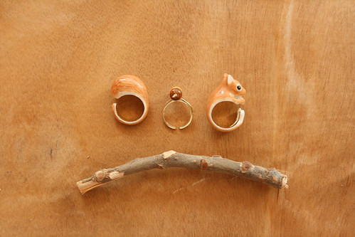*new* Hand painted 3-in-1 ring set – Squirrel