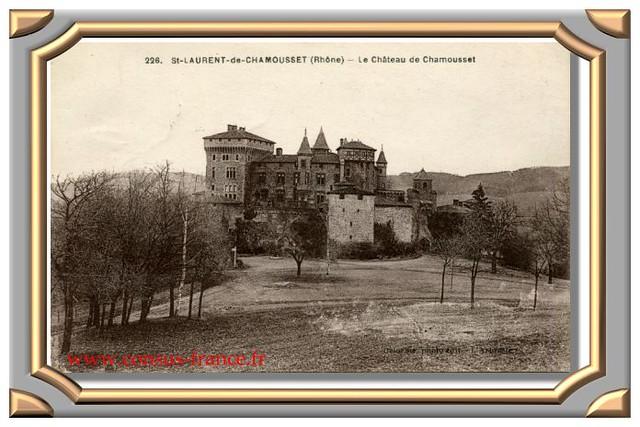 SAINT-LAURENT de CHAMOUSSET (Rhône) _ Le Château de Chamousset -70-150