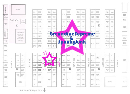 Designercon 2012 vendor map. by GrenadineSupreme