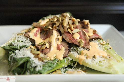 Grilled Pumpkin Caesar Salad with Steak