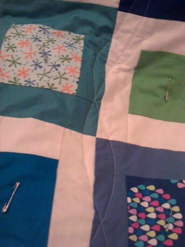 Quilting wavy lines