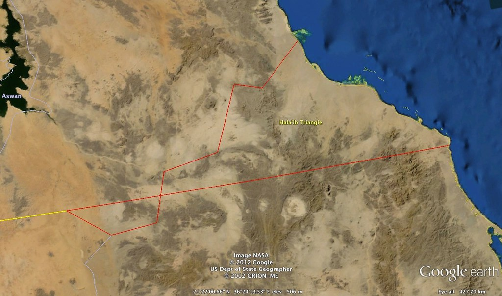 Hala'ib Triangle (Sudan-Egypt) Borders