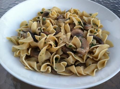 Mushroom stroganoff plate