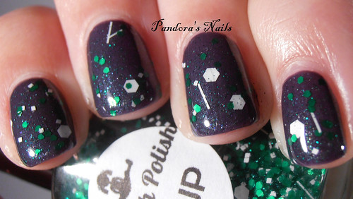 Dollish Polish 1-UP over Contrary Polish Inky Fingers 3