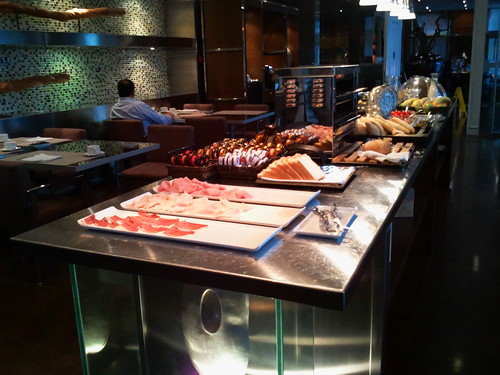 Breakfast buffet at AC Palacio Vigo Spain