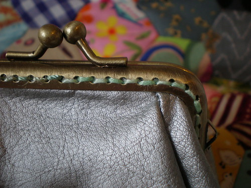 Sewn Frame Purse Detail