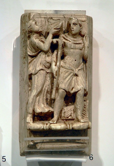 Ivory relief with a Maenad and a Satyr, Romisch-Germanisches Museum, Cologne