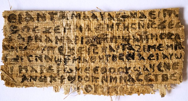 Papyrus Fragment Purported to be from The Gospel of Jesus' Wife