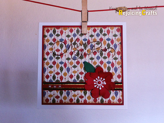 Handmade christmas card with ornament patterns flickr