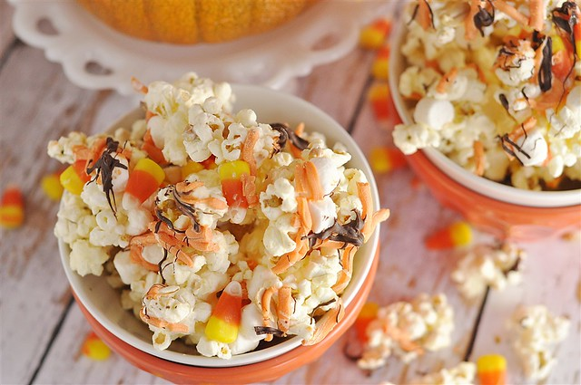 White CHocoalte Candy Corn Popcorn