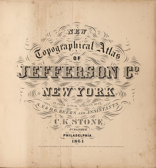 New Topographical Atlas of Jefferson Co. New York 1864