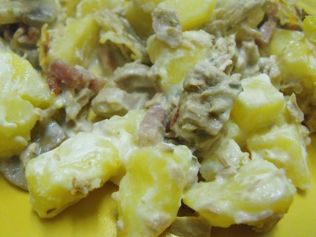 Batatas no forno com queijo creme