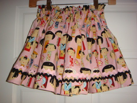 Pink skirt with rick rack
