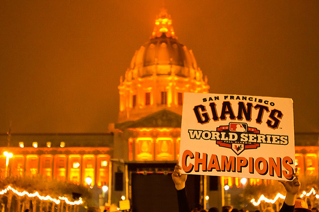 SF GIANTS  WORLD SERIES CHAMPS