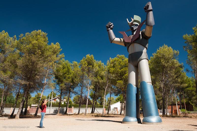 La estatua gigante de Mazinger Z de Tarragona
