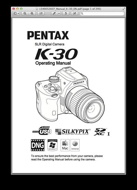 Pentax K-30 Manual