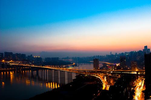 china city mountain nightview chongqing