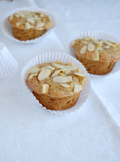 Molasses and caraway apple muffins