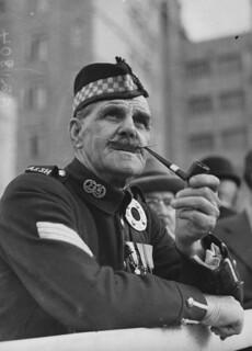 Ex-Sergeant A. P. Gordon at the Anzac Day service, Brisbane, 1937