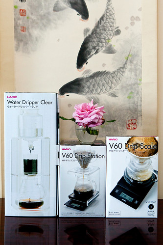 Hario Water Dripper, V60 Drip Station & V60 Drip Scale