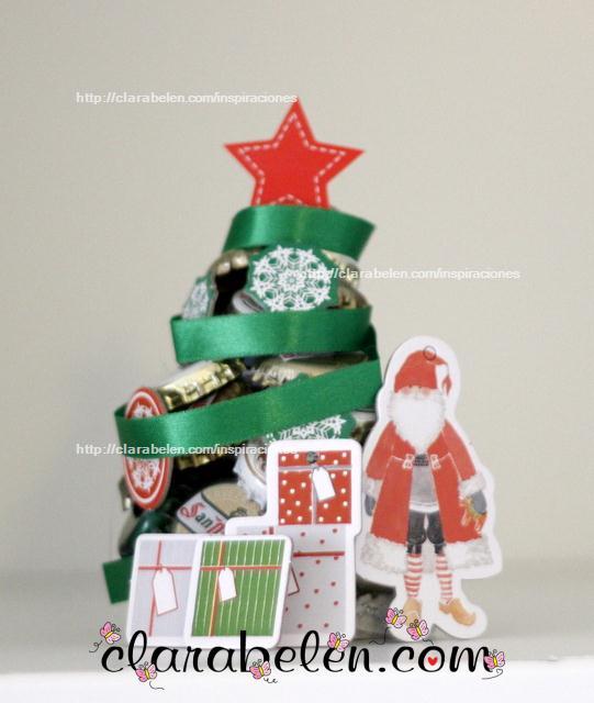 Arbolito de Navidad de chapas sencillo primer modelo