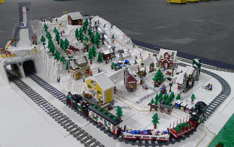Norwegian winter mountain village lego town eurobricks for How to build a house in a mountain