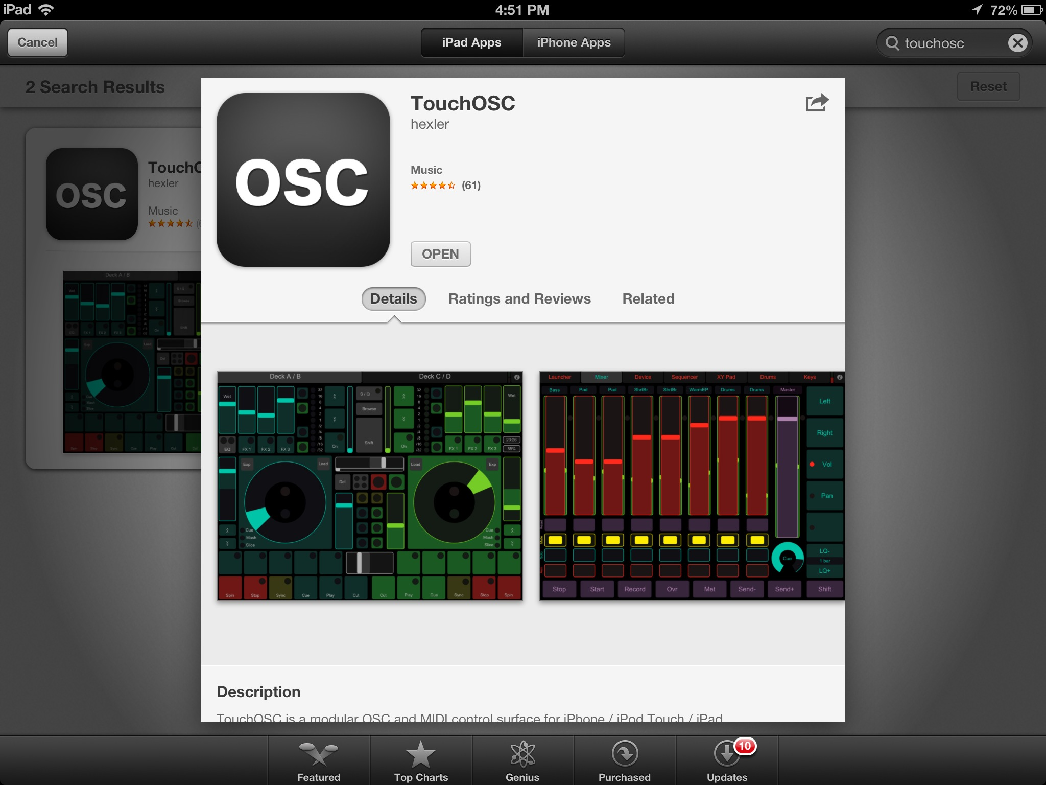 touchosc ipad midi controller apps for music composition 2012 11 03 sml screenshots. Black Bedroom Furniture Sets. Home Design Ideas
