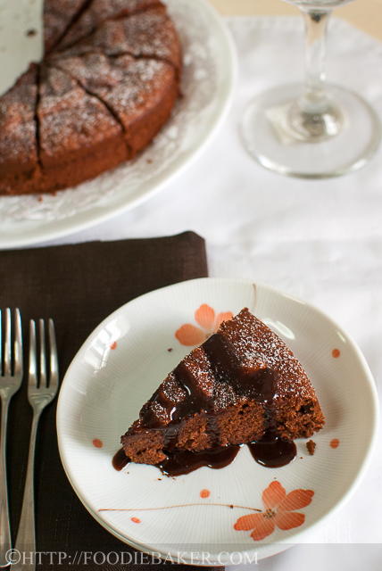 Dark Chocolate Almond Cake