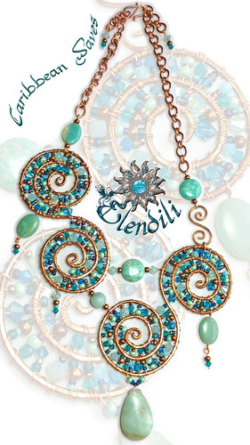 Caribbean Waves - Collar by **Elendili**