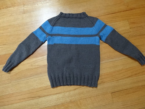 Grey raglan with stripes