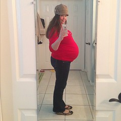 30-degrees and 34 weeks and GAH I LOOK BIGGER THAN JUST 34 STUPID WEEKS.