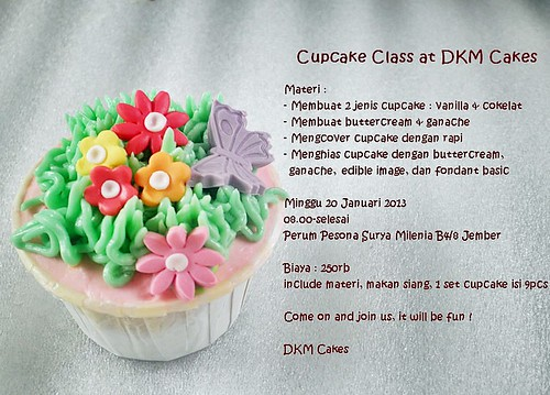 kursus cupcake, kursus cupcake jember, cupcake class