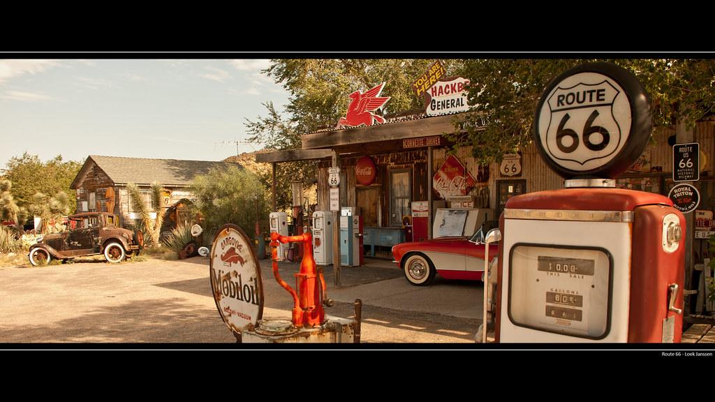 Route 66 Gas Station Wallpaper Desktop Background 2560 X 1440