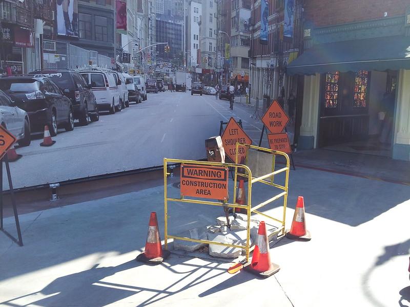 NY Street Construction Photo Op