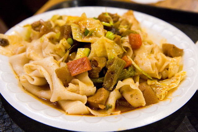 Mount Qi vegetable hand-ripped noodles, Xi'an Famous Foods
