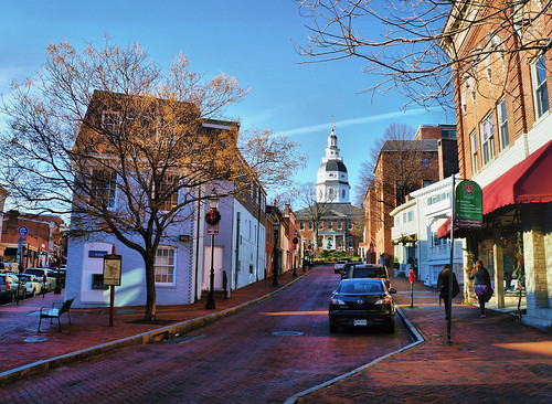 street city sky building tree history car store mainstreet cityscape maryland historic capitol annapolis legislature statehouse toshio