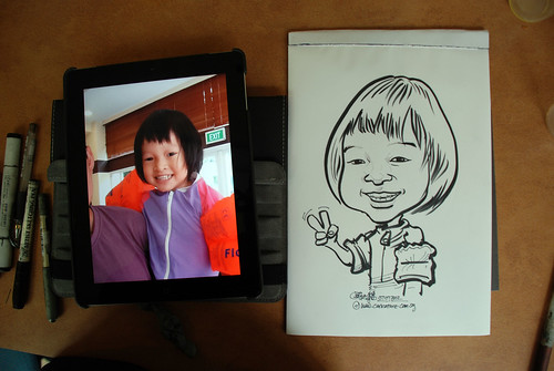 caricature sketching for a birthday party 07072012 - 11