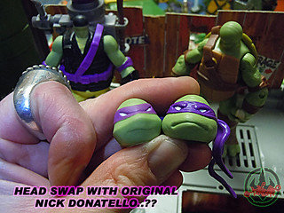 "Nickelodeon ""MUTAGEN OOZE"" TEENAGE MUTANT NINJA TURTLES :: OOZE SCOOPIN' DONNIE - E // ..head swap with original Nick Donatello  (( 2013 ))"