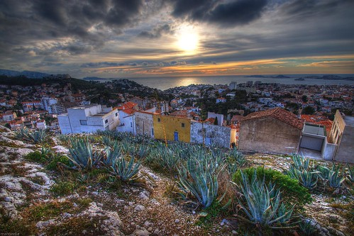 sunset france landscape marseille view provence paysage vue hdr coucherdusoleil aloes 3xp nddelagarde